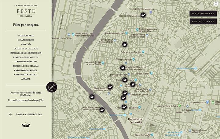 La Peste - Portfolio - Interactive Map